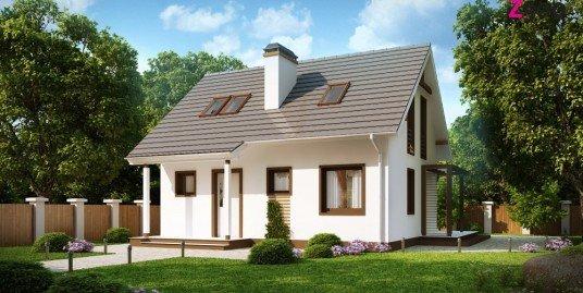 Proiect casa cu mansarda A9