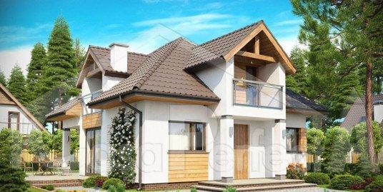 Proiect casa cu mansarda A52