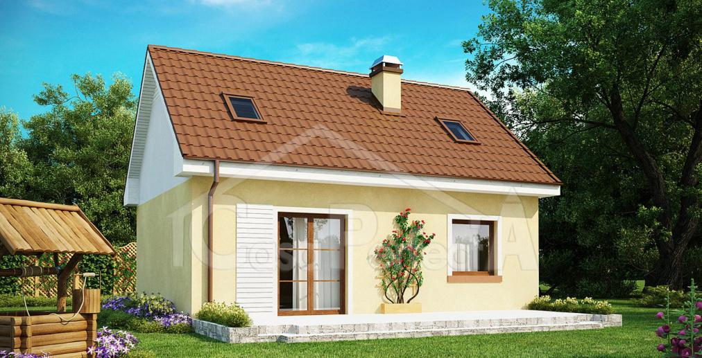 Proiect casa cu mansarda A49