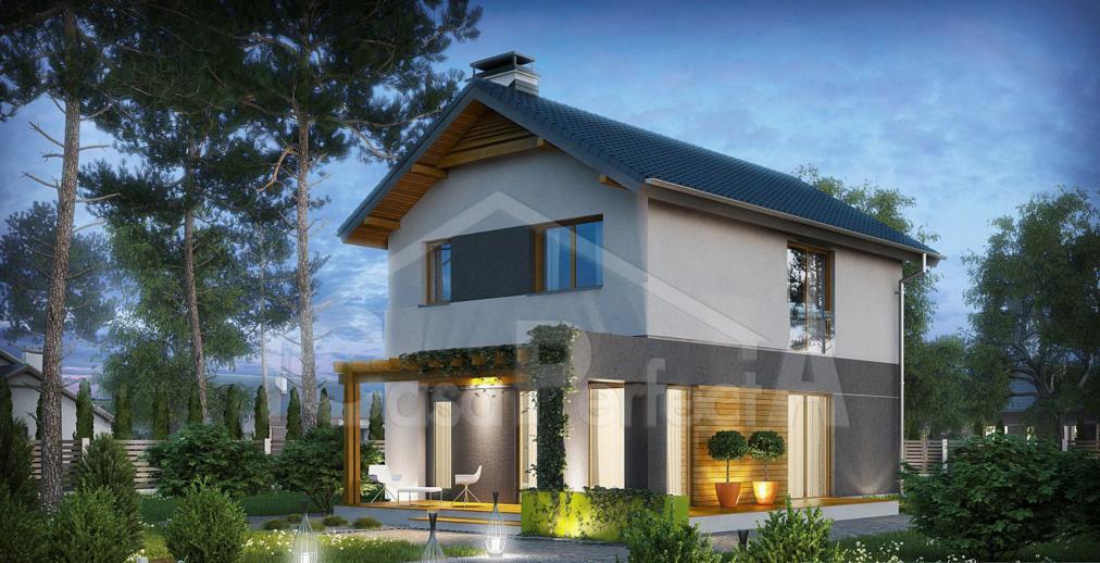 Proiect casa cu mansarda A46