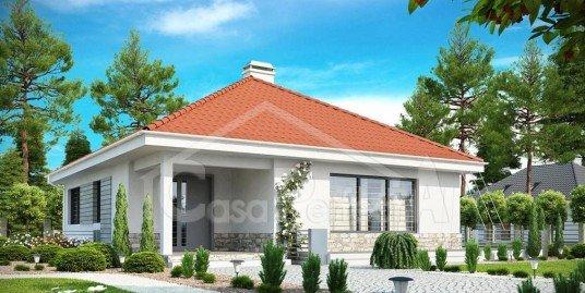 Proiect casa cu mansarda 128 mp