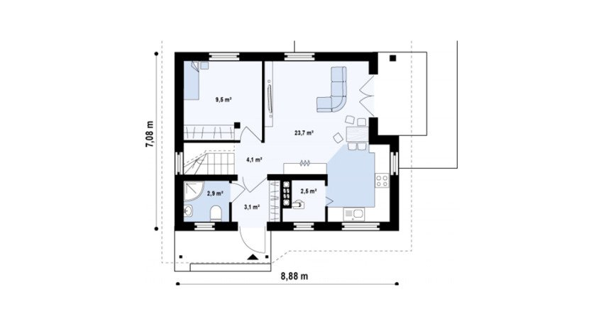 Proiect-de-casa-mica-Parter-Mansarda-interior-71011