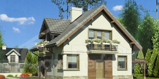 Proiect casa cu mansarda A45