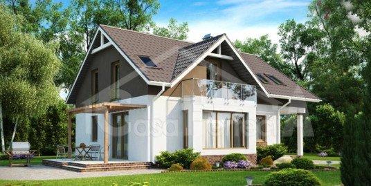 Proiect casa parter cu mansarda A74