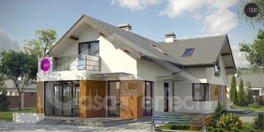 Proiect casa parter cu mansarda A93