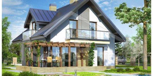 Proiect casa parter cu mansarda A75