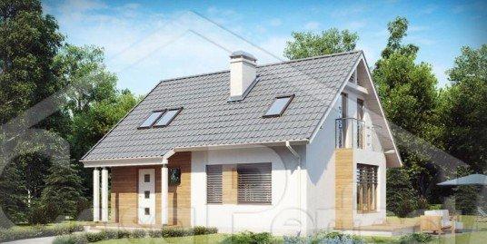 Proiect casa parter cu mansarda A76