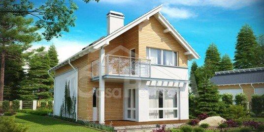 Proiect casa parter cu mansarda A108