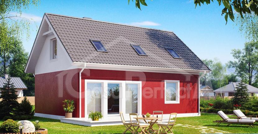Proiect casa parter cu mansarda A70