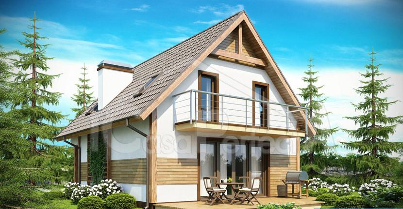 Proiect casa parter cu mansarda A72