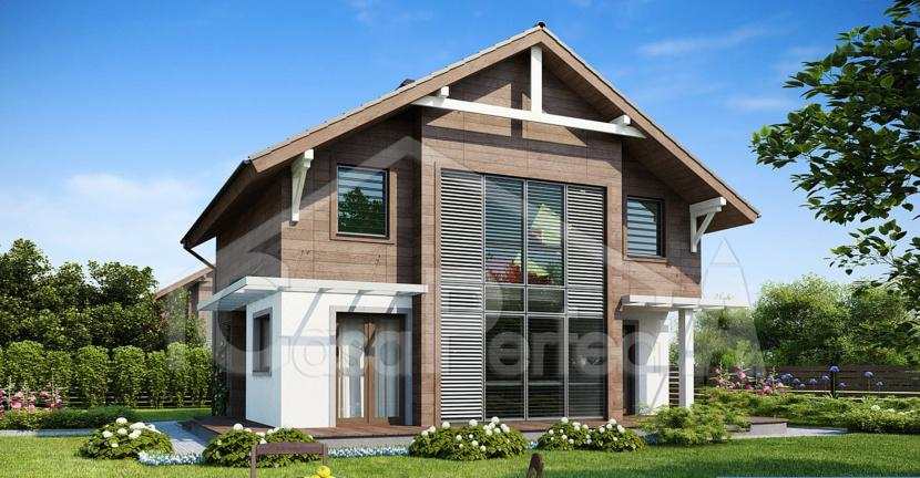 Proiect casa parter cu mansarda A95