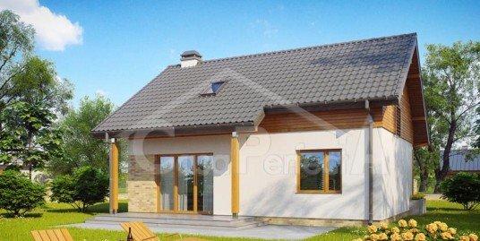Proiect casa parter cu mansarda A66