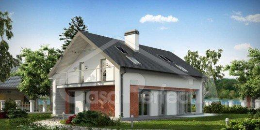 Proiect casa parter cu mansarda A98