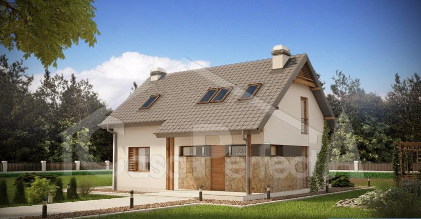 Proiect casa parter cu mansarda A80