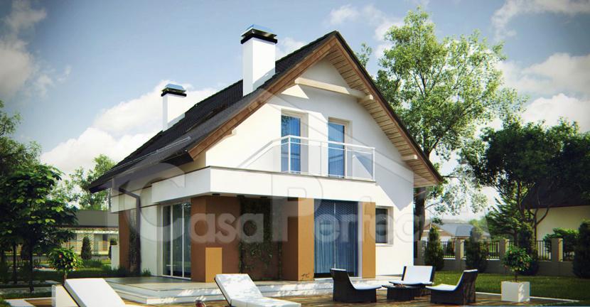 Proiect casa parter cu mansarda A61