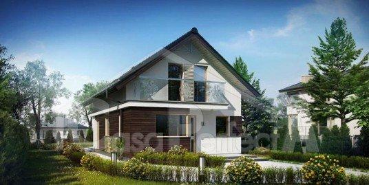 Proiect casa parter cu mansarda A99