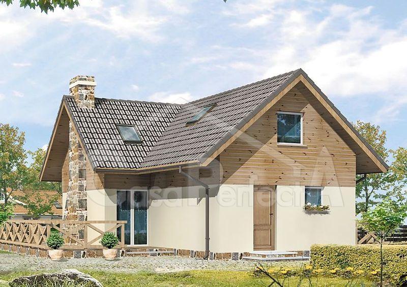Proiect casa parter cu mansarda A109