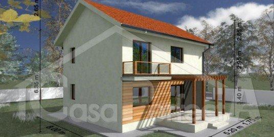 Proiect casa parter cu etaj A81