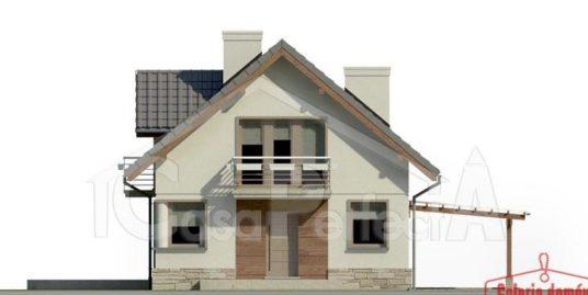 Proiect casa parter cu mansarda A82