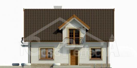 Proiect casa parter cu mansarda A102