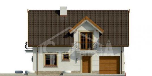 Proiect casa parter cu mansarda A110