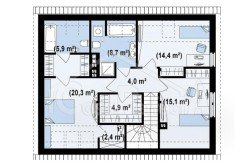 Proiect-casa-cu-Mansarda-si-Garaj-183011-mansarda