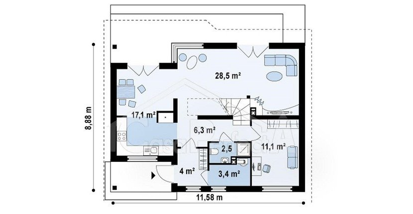 Proiect-de-casa-medie-Parter-Mansarda-66011-parter
