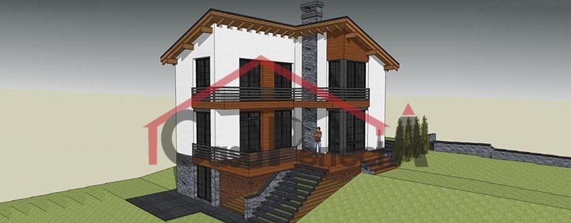 Proiectul De Casa Cu Parter Etaj Si Garaj