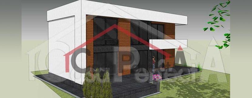 Proiect de casa moderna cu parter, etaj, garaj
