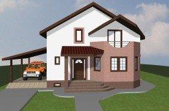 Proiect casa cu etaj si mansarda