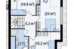 Proiect-casa-cu-Mansarda-si-Garaj-e23011-mansarda