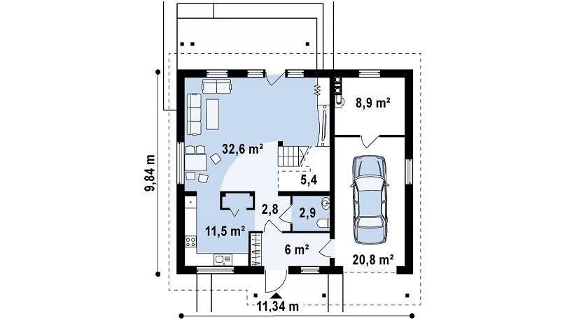 proiect-casa-cu-mansarda-si-garaj-119011-parter