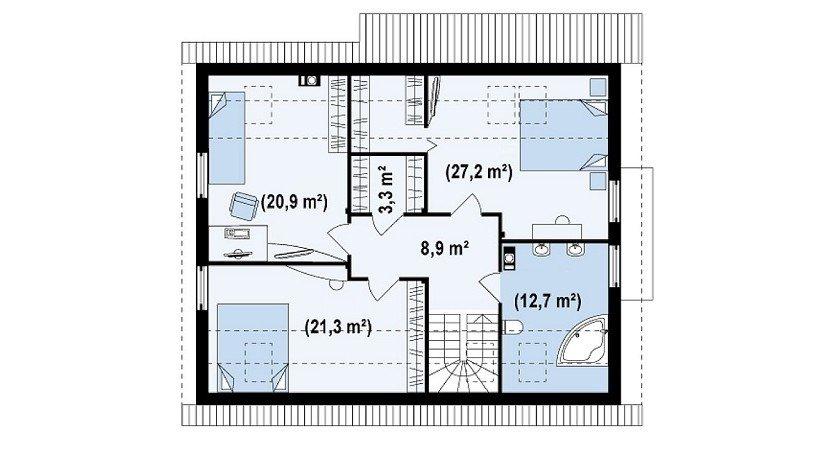proiect-casa-cu-mansarda-si-garaj-124011-mansarda
