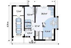 proiect-casa-cu-mansarda-si-garaj-124011-parter