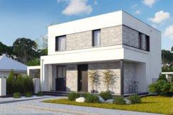 Proiect de casa moderna cu parter, etaj