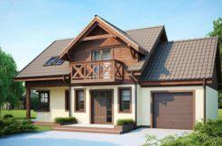 Proiect casa cu Mansarda si garaj