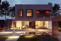 Proiecte case parter cu garaj, 4 dormitoare, 195 MP