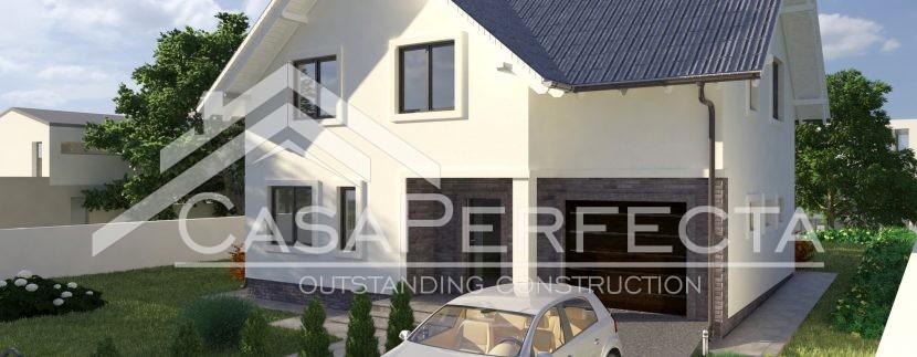 Proiecte case cu mansarda 243 MP