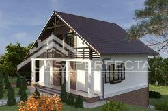 Proiect casa parter cu mansarda 229 MP